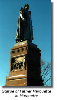 Statue of Father Marquette in Marquette
