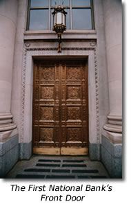 The First National Bank's Front Door